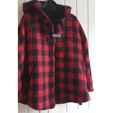 Płaszcz damski w kratę rozmiar 36 Nowy z metką