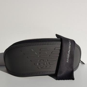 EMPORIO ARMANI - Oryginalne, Duże etui na okulary