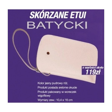 Etui skórzane na telefon Batycki