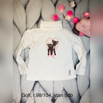 *Lupilu*golf*biały*Bambi*jelonek*r.98/104