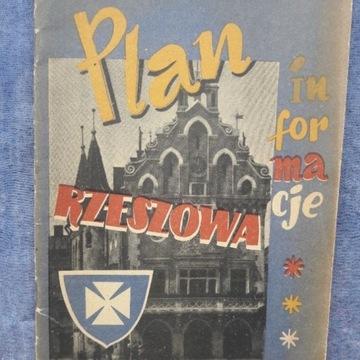 PLAN RZESZOWA 1957 - reklamy PRL - DELIKATESY PKO