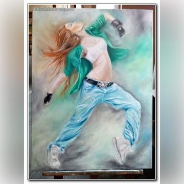 Obraz olejny 80x60- Taniec