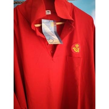 Koszulka Polo, Męska, Czerwona, krótki rękaw