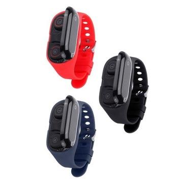 KALOAD 2 w 1 BT Słuchawki i smartwatch. Czerwony.