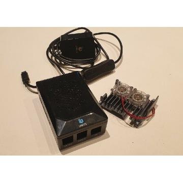 Obudowa, zasilacz i radiator do RaspberryPi 4B