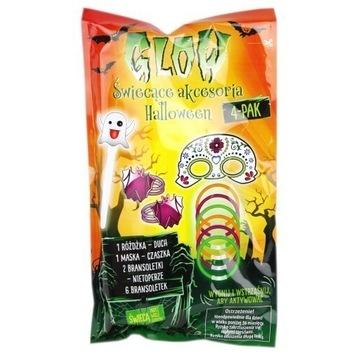 Zestaw Glow świecące akcesoria Halloween 4-pak