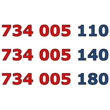 734 005 1x0 ŁATWY ZŁOTY NUMER STARTER x 3