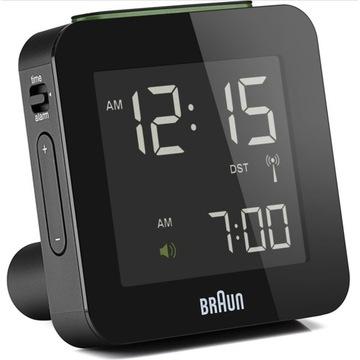 Budzik zegar BRAUN BNC009 Czarny Cyfrowy LCD