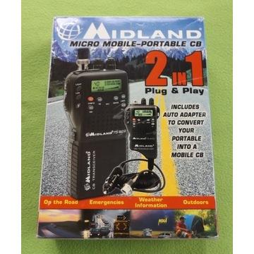 CB radio z anteną do samochodu Midland 75-822