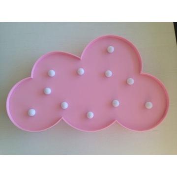 Lampka led chmurka różowa