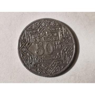 50 Centymów 1921 rok Maroko Oryginał