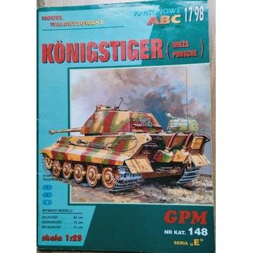 Czołg Konigstiger GPM 148 1998/17 w skali 1/25