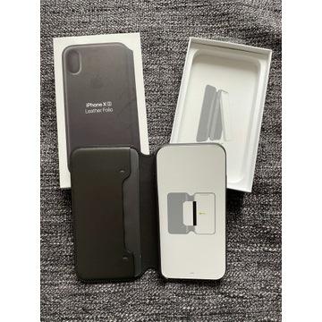Apple iPhone Xs Leather Folio BLACK ORYGINAŁ!!!