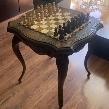 Luksusowy drewniany stół szachowy