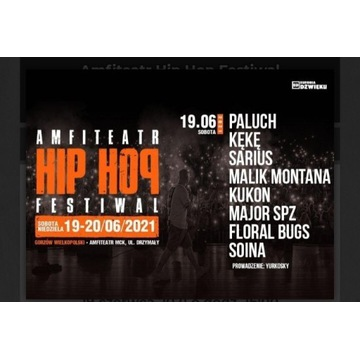 Bilet na koncert Hip Hop Gorzów festiwal 2szt