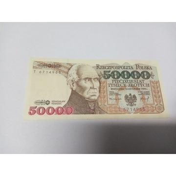 Banknot  50000 zł UNC Oryginał seria T