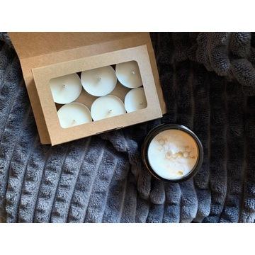Zestaw tealight wosk sojowy 6 szt, bezzapachu
