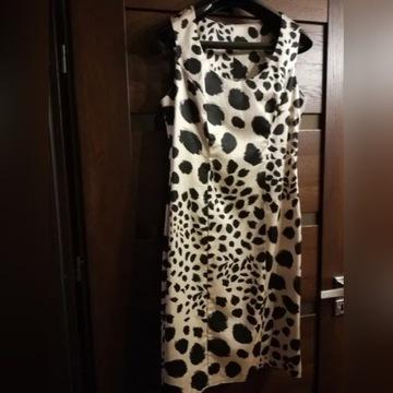 Komplet /zestaw sukienka panterka M + bolerko M