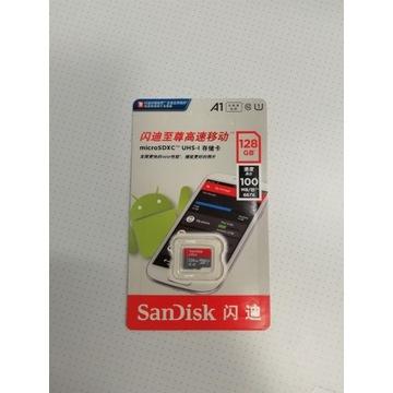 Karta micro SDXC Sandisk 128GB, 100MB/s, GRATIS