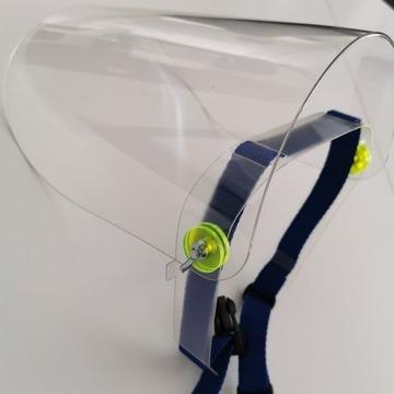 Przyłbica ochronna na twarz, grube pleksi 1,7mm!