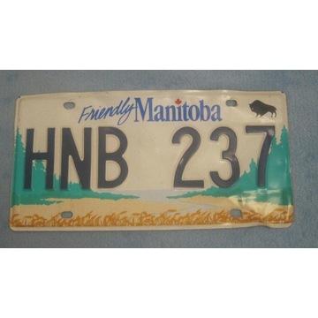 Tablica rejestracyjna Kanada Manitoba oryginał