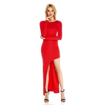 Sugarfree Blake czerwona długa sukienka S