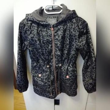 Płaszcz kurtka Reserved panterka r.140 dziewczynka
