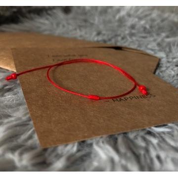 Czerwona nitka damska kabała sznurek bransoletka