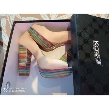Nowe, oryginalne buty na platformie firmy KAZAR