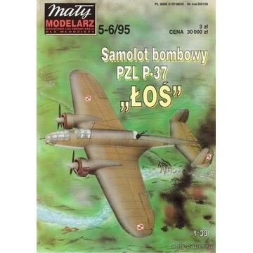 "MM 5-6/95 Samolot bombowy PAL P-37 ""ŁOŚ"""