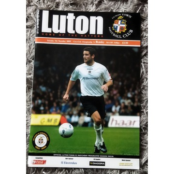 Program meczowy Luton Town Burnley ANGLIA 2005 r.
