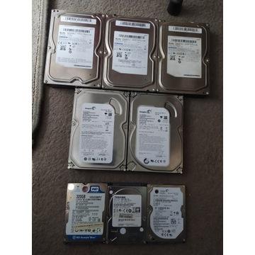 Dysk HDD 8 szt, 2,5', 3,5' sprawne.