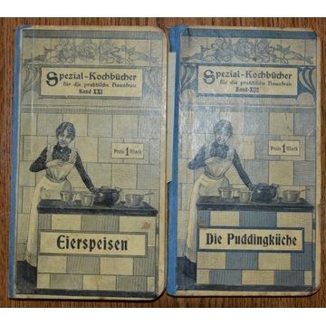 Stare książki kucharskie 2 szt.