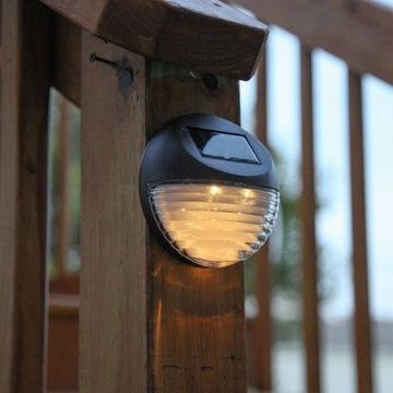 KOMPLET 3 SZT Lampa SOLAR LED z czujką zmierzchu.