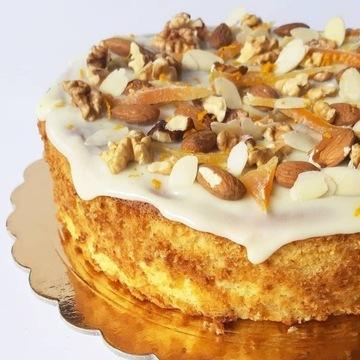 Ciasta na zamówienie Gdańsk. Biszkopt pomarańczowy