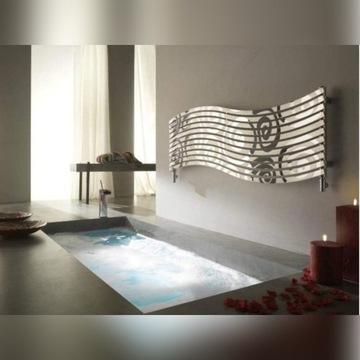 Ozdobny grzejnik łazienkowy lustrzany