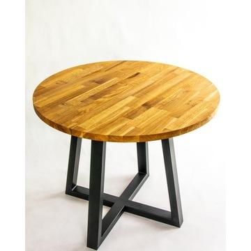 Stół okrągły dębowy 90 cm loft
