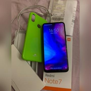 Xiaomi redmi note 7 jak nowy Na gwarancji