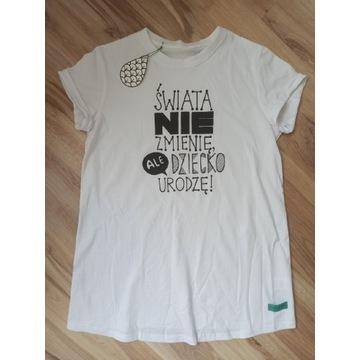 Nowa bluzka t-shirt ciążowy biały M