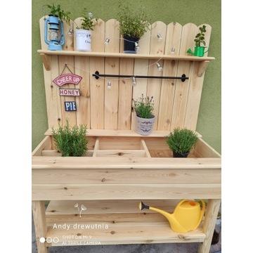 Półka ogrodowa na zioła/warzywa ozdobna herb bench