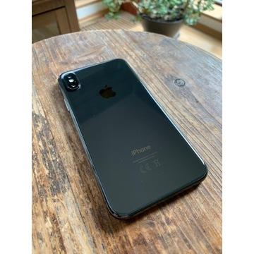 iPhone X 64GB Gwiezdna szarość + Folia i dwa etui