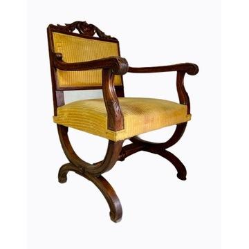 Fotel krzesło Empire BUK I połowa XIX w. Francja