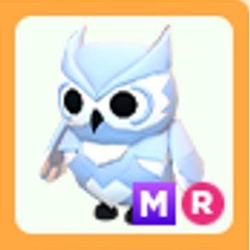 Roblox Adopt Me Snow Owl MR mega neon R