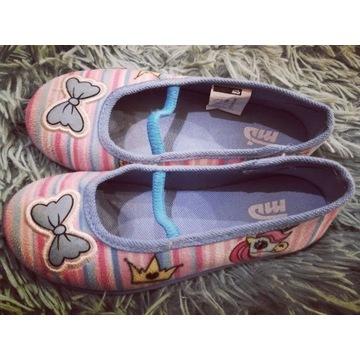 Pantofle, papcie dla dziewczynki r 29 wkładka 18cm
