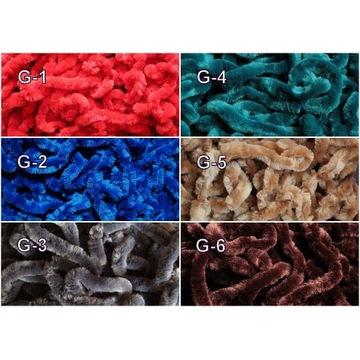 Chenille 12-15 mm materiał muchowy, kogut, koguty,