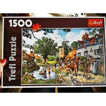 Puzzle Trefl 1500 Wiejska sielanka unikat W FOLII