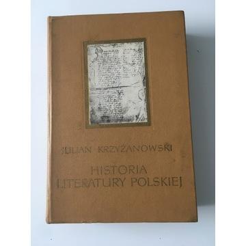 Książka historia literatury polskiej