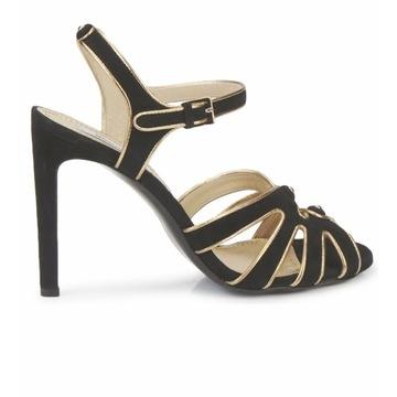 MOSCHINO piękne kobiece sandały skórka 38 nowe