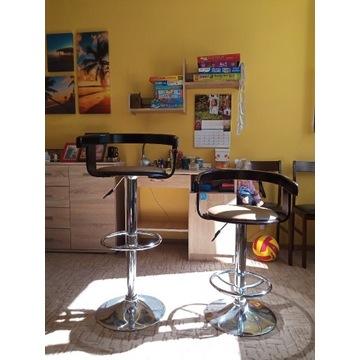 Hoker krzesło barowe brązowe