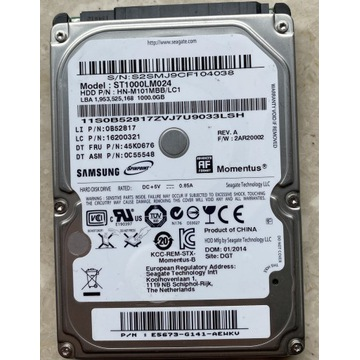 DYSK 2.5'' SAMSUNG 1000GB 1TB